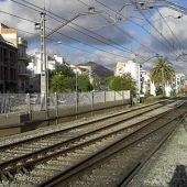 Vías de tren en Sitges