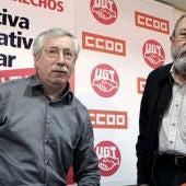 Toxo y Méndez, en rueda de prensa