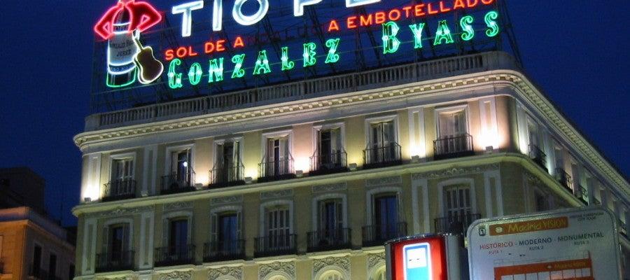 El edificio de Tío Pepe, uno de los más emblemáticos de la capital