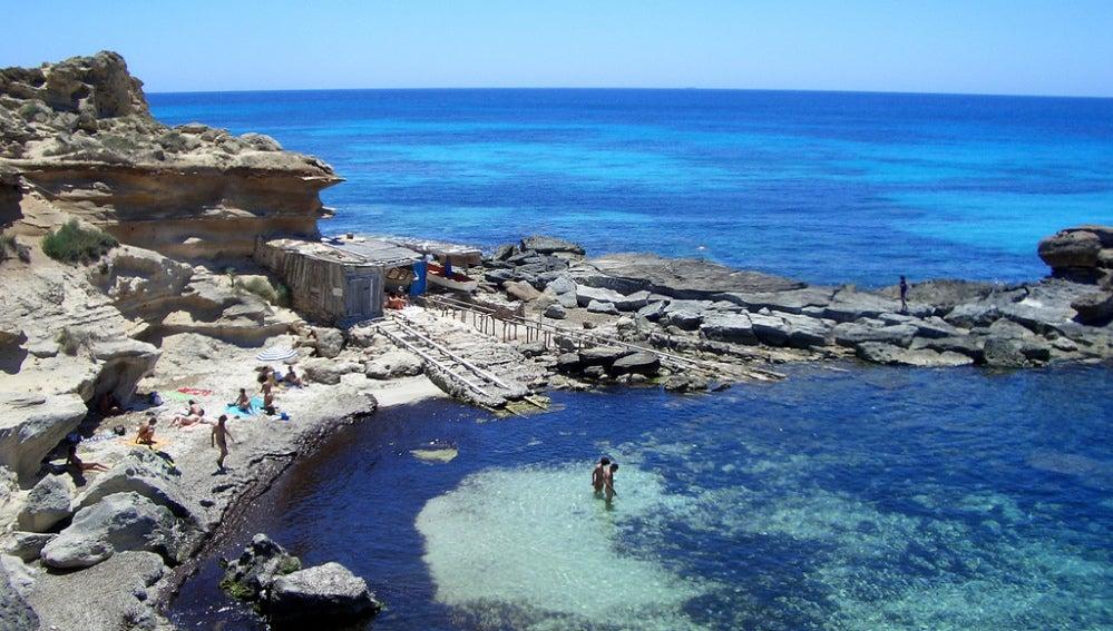 Una cala de Formentera