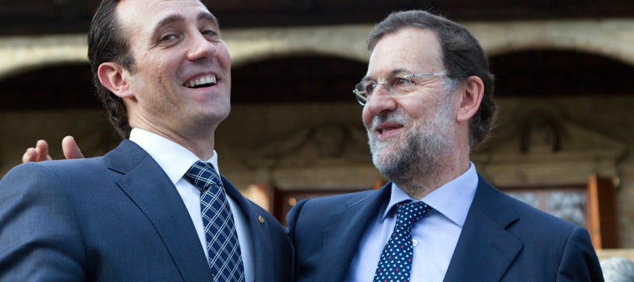 Rajoy junto a José Ramón Bauzá