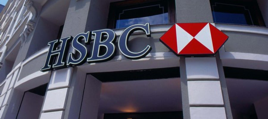 Fachada de una sucursal del banco HSBC