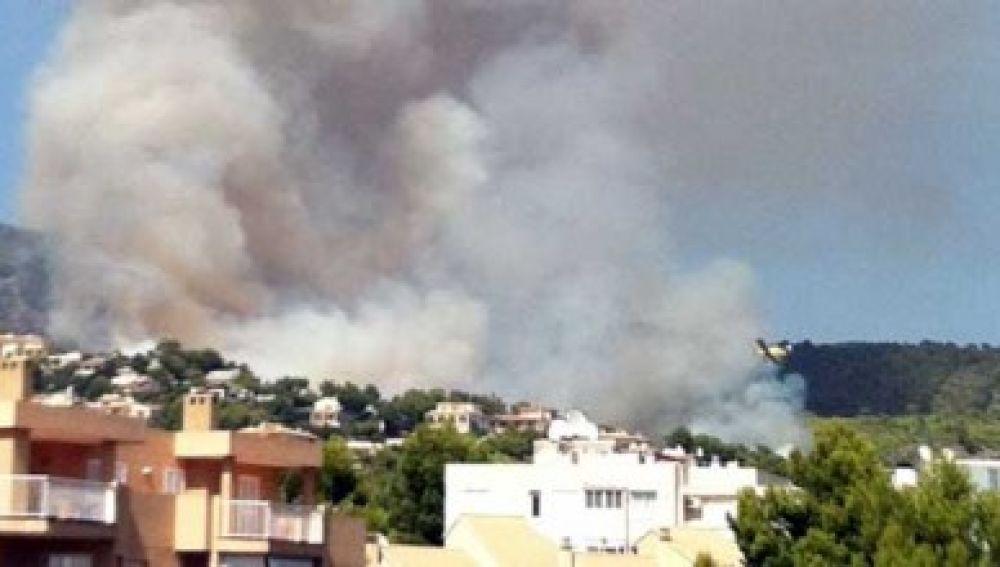 El fuego arrasa 20 hectáreas de superficie en Calvià