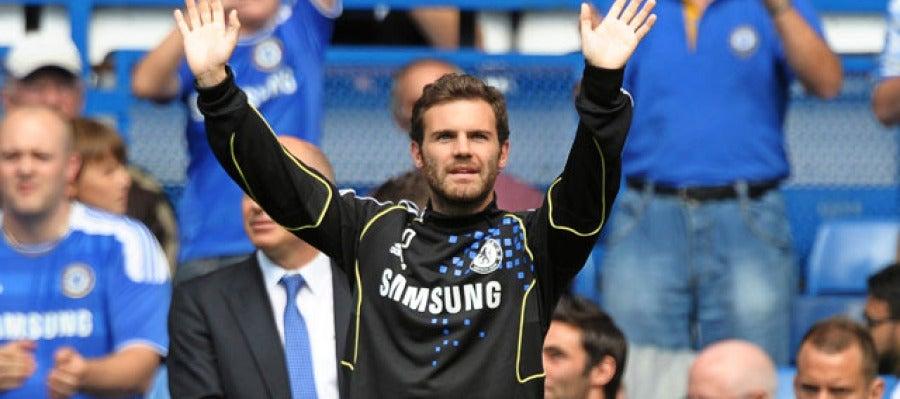 Mata, en su debut con el Chelsea