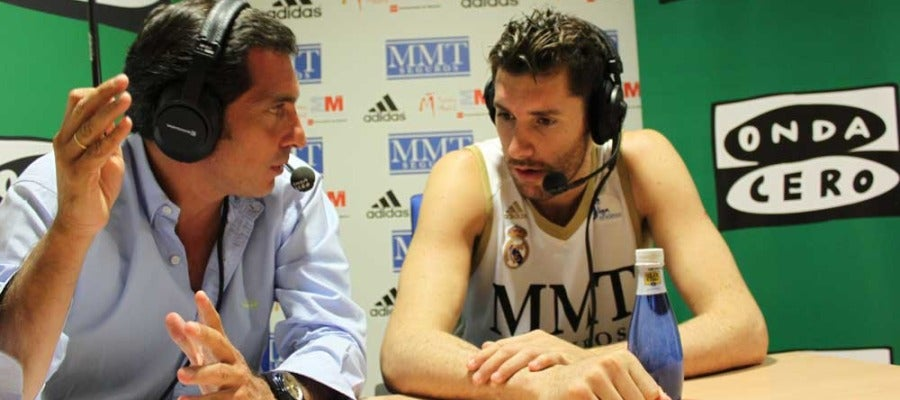Ángel Rodríguez con Rudy Fernández
