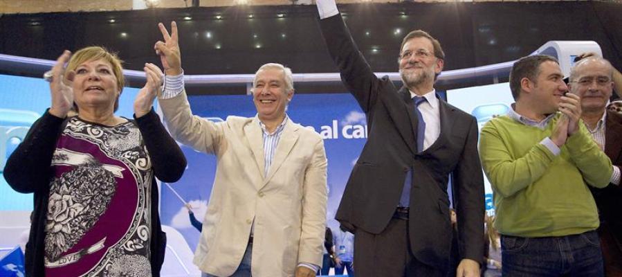 Mariano Rajoy de mitin en Málaga