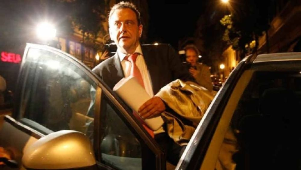 Pedro Horrach tras registrar las oficinas de Urdangarin el lunes. | Q. García