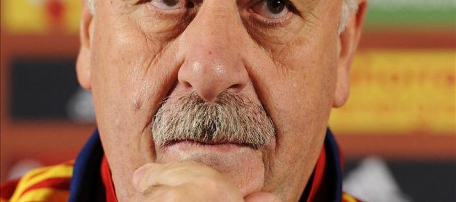 Vicente del Bosque con la selección española