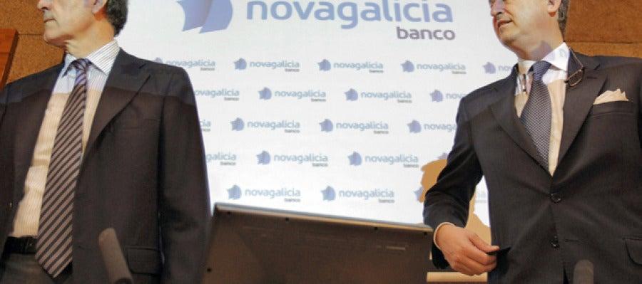 El presidente de Novagalicia Banco José María Castellano y el consejero delegado, César González-Bueno