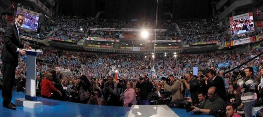 Mariano Rajoy, en el mitin de clausura