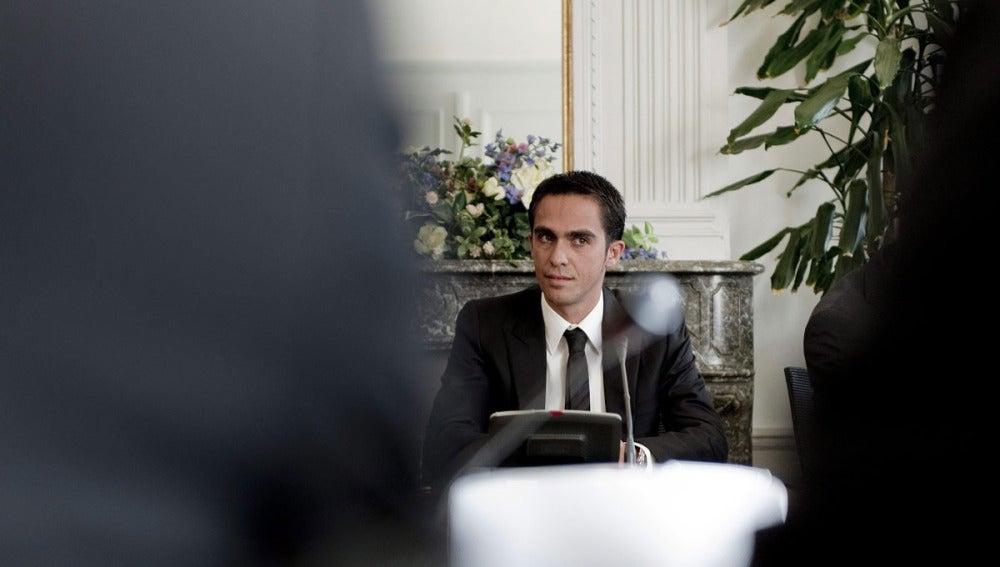 Alebrto Contador, en la sede del TAS en Lausana