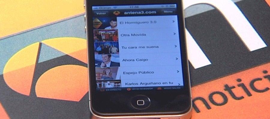 La aplicación de Antena 3, en un iPhone