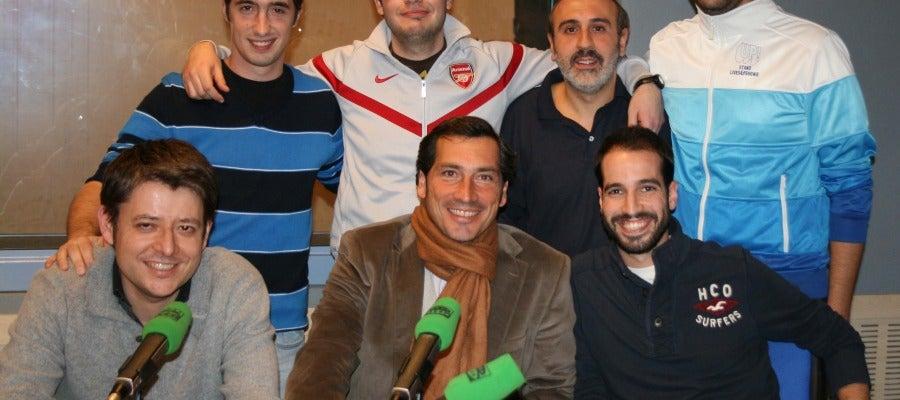 De izquierda a derecha, abajo: Rafa Fernández, Ángel Rodíguez, Oscar Conde. Arriba: Andrés Aránguez, Alberto Collado, José Luis Gómez y Raúl Granado
