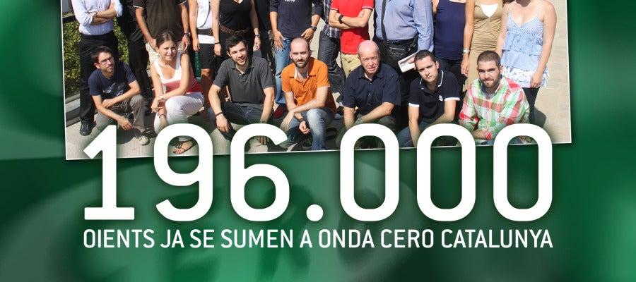 196.000 oients se sumen cada dia a Onda Cero Catalunya