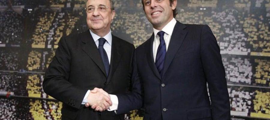 Florentino Pérez y Sandro Rosell