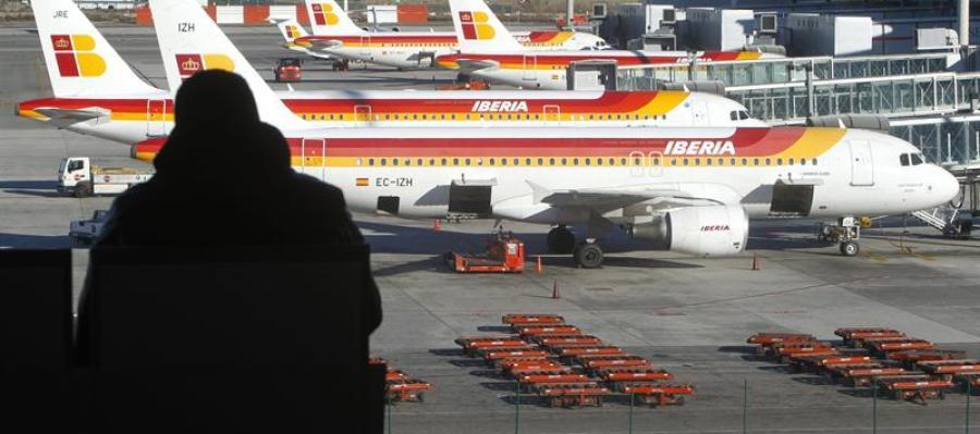 Aviones de Iberia en el aeropuerto de Barajas