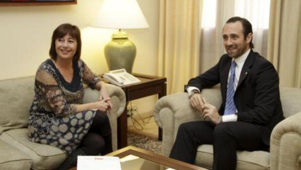 Francina Armengol y José Ramón Bauzà