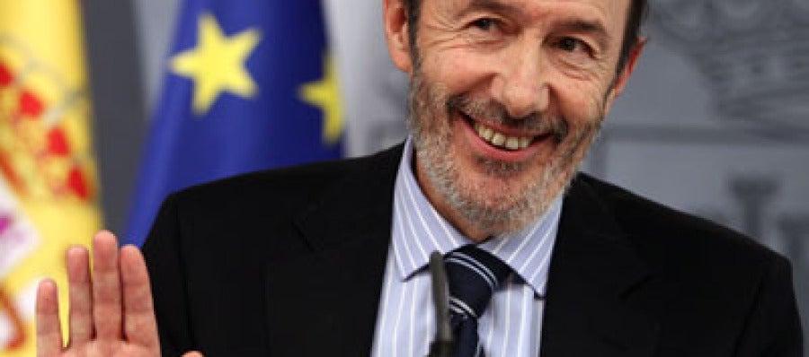 El pre-candidato a la secretaría general del PSOE , Alfredo Pérez Rubalcaba