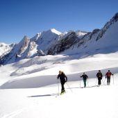 Esquiadores en el Valle de Arán