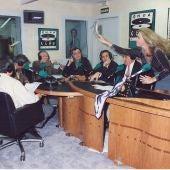 El zapatazo de Norma Duval:  harta de las continuas críticas de Jimmy Giménez-Arnau, le arroja el zapato al periodista durante la emisión en directo de Protagonistas