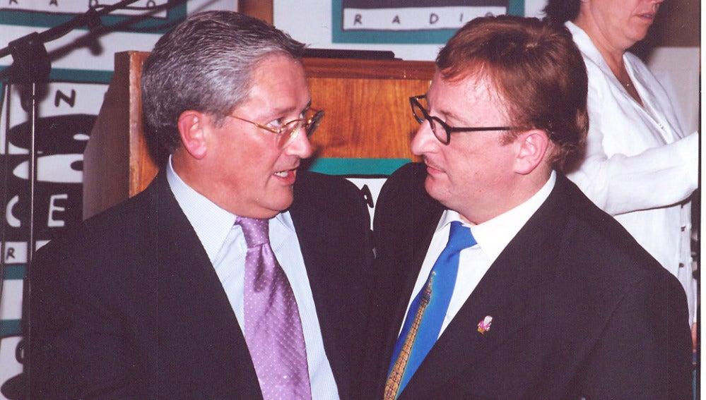 Fernando Ónega con Javier Gurruchaga