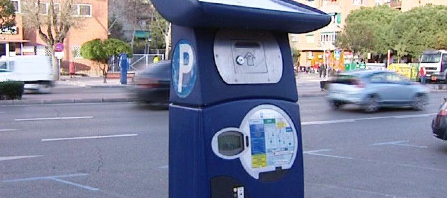 Un parquímetro en Madrid