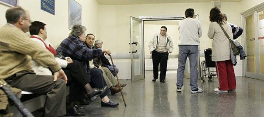 Sala de espera de una consulta médica