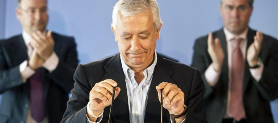 El presidente del PP-A en 2012, Javier Arenas
