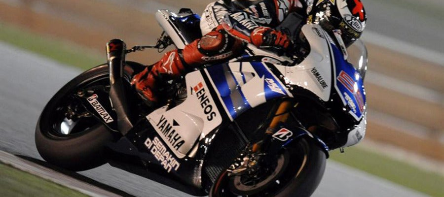 Jorge Lorenzo en su Yamaha.