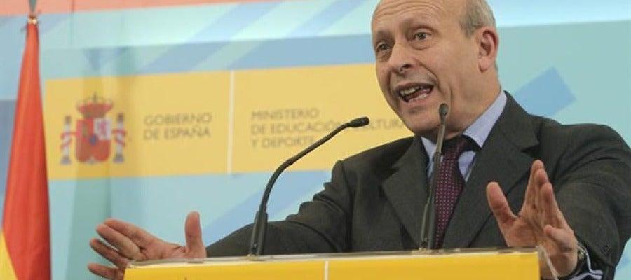 El ministro de Educación, José Ignacio Wert