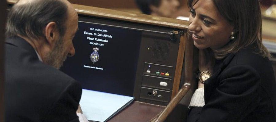 Rubalcaba y Chacón en el Congreso