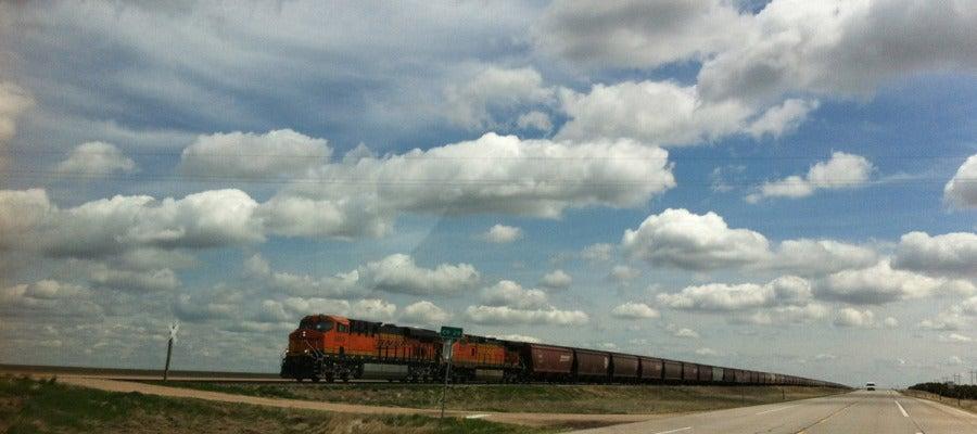 Un tren de mercancías