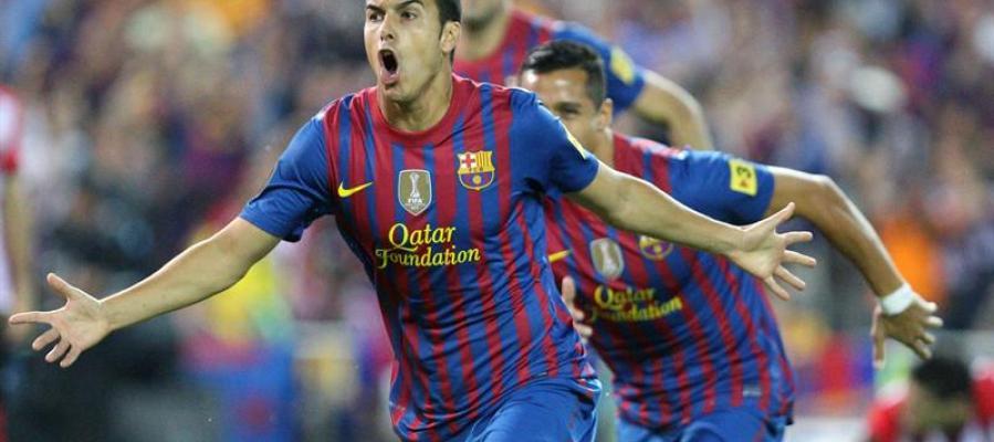Pedro celebra su gol en la final