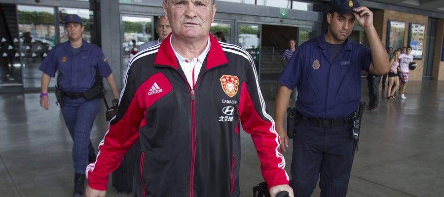 Camacho, a su llegada a Sevilla