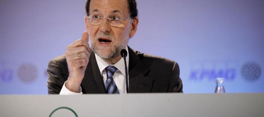 Mariano Rajoy durante su comparecencia