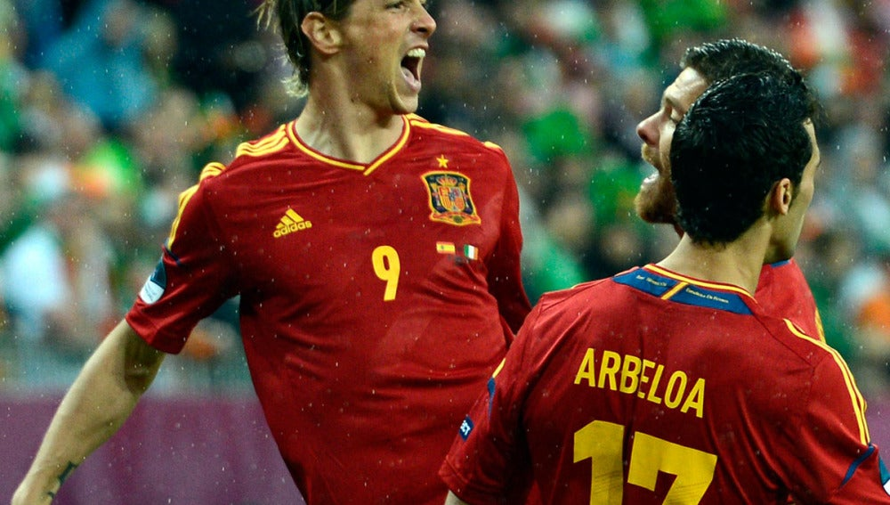 Torres, eufórico tras marcar ante Irlanda