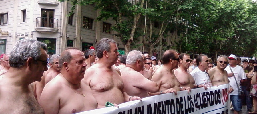 Protesta ex trabajadores de Santana