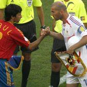 Raúl y Zidane en el Mundial 2006