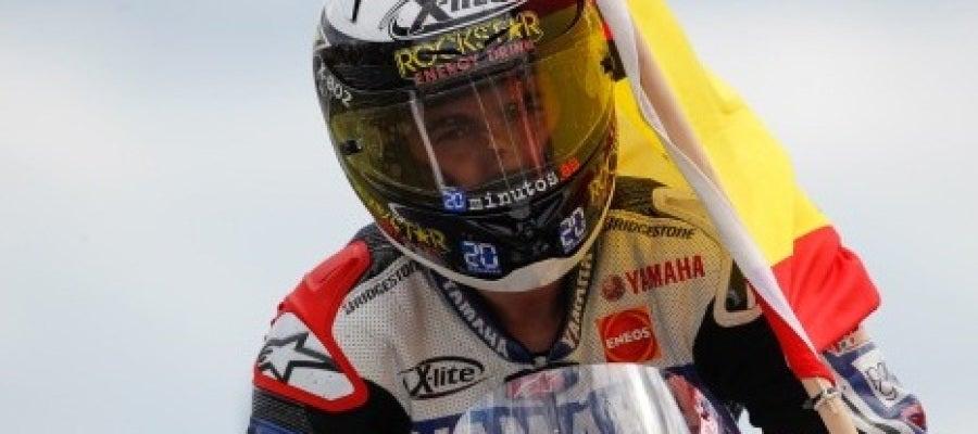 Lorenzo celebrando el GP de Gran Bretaña