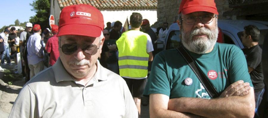 """Toxo y Méndez muestran su """"solidaridad"""" con los mineros y se unen a la marcha"""