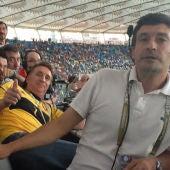 El equipo de Onda Cero en la final de la Eurocopa
