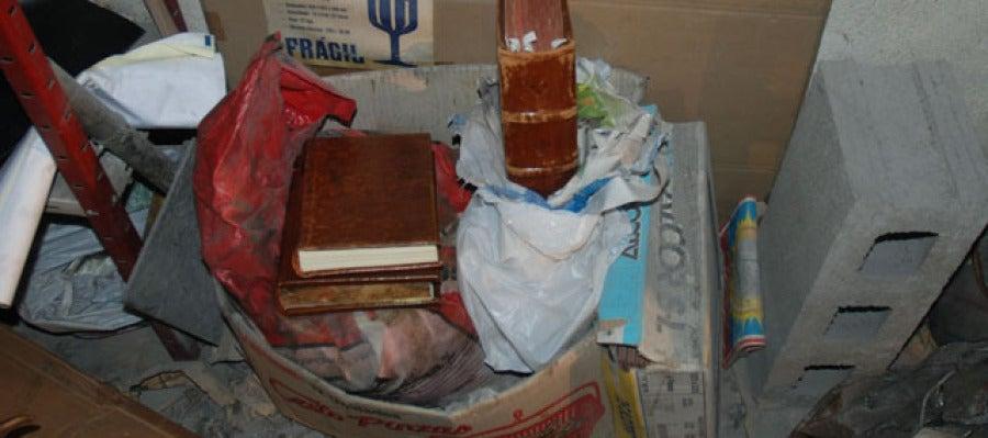 El Códice se encontraba entre bolsas de cemento