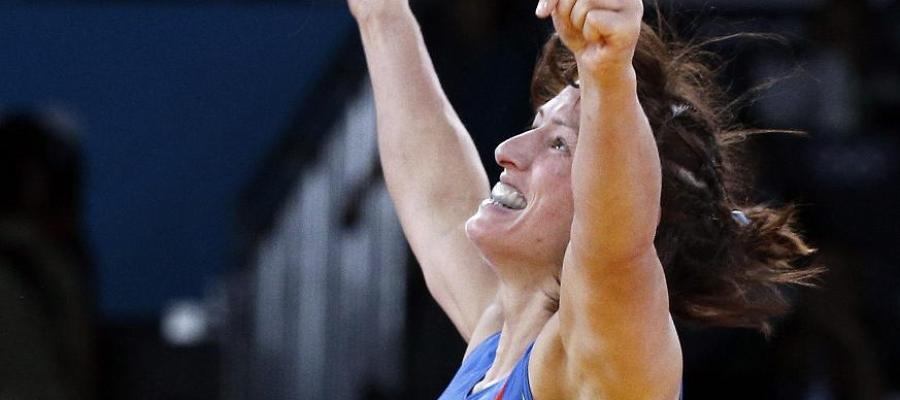 Maider Unda celebra su bronce en los Juegos de Londres