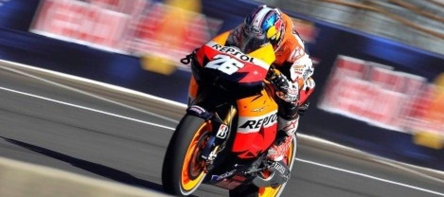 Dani Pedrosa en su triunfo en el GP de Indianápolis