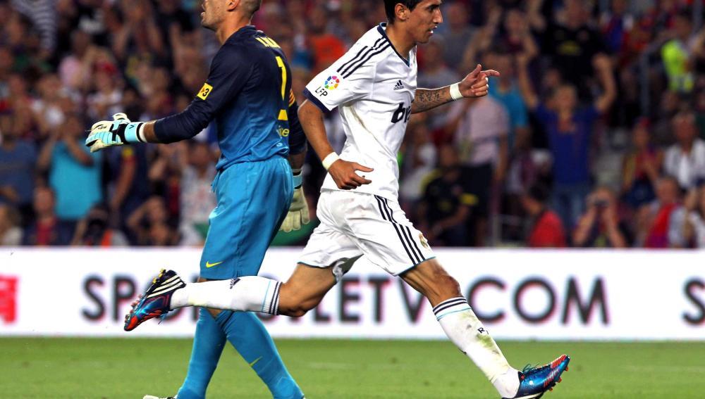 Valdés, tras un error ante Di María