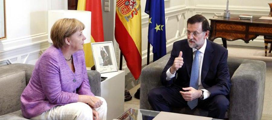 Reunión de Rajoy y Merkel