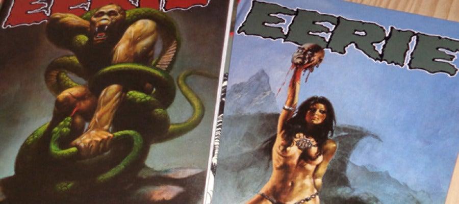 Portadas de los volúmenes 7 y 8 de Eerie.