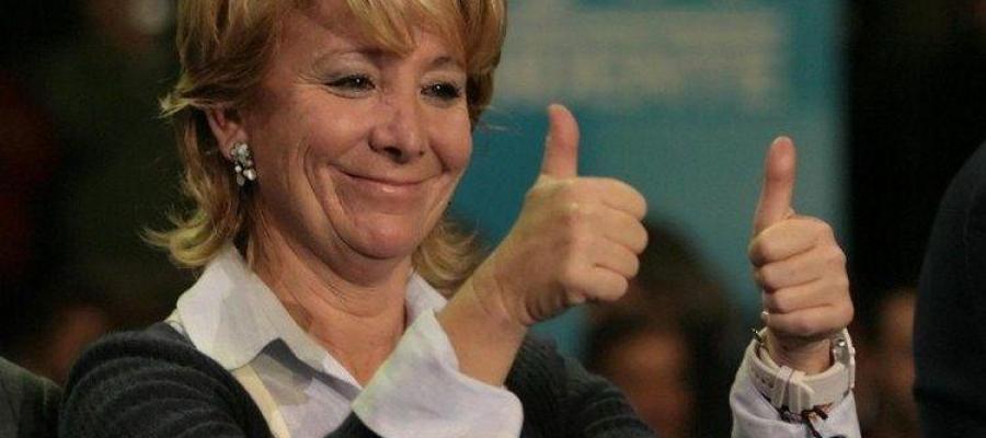 Esperanza Aguirre se muestra contenta