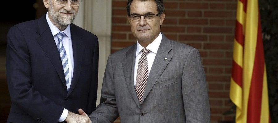 Mariano Rajoy Artur Mas en La Moncloa