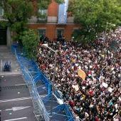 Manifestantes del 25S